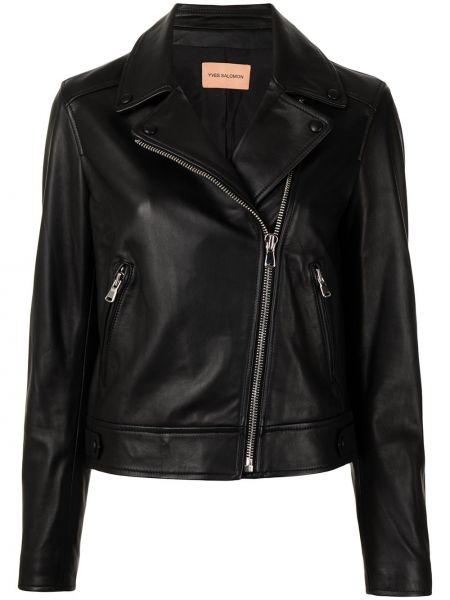 Длинная куртка - черная Yves Salomon