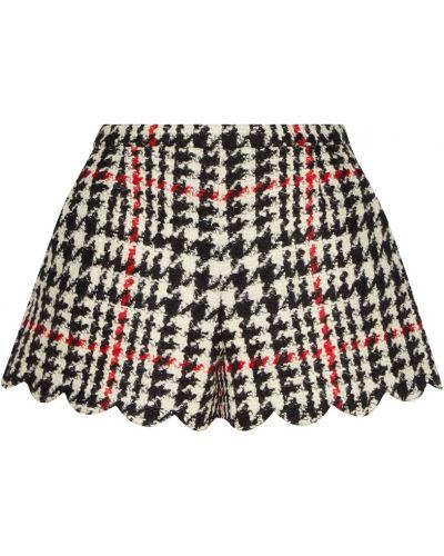 Короткие шорты в клетку шерстяные Red Valentino