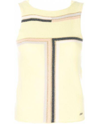 Блузка без рукавов винтажная желтый Chanel Vintage