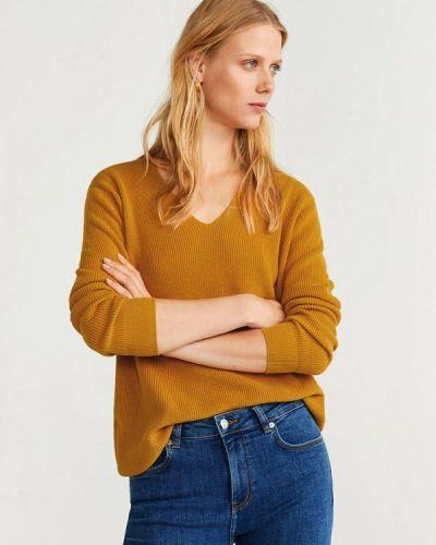 Пуловер желтый Mango