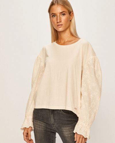 Блузка однотонная с вышивкой Pepe Jeans