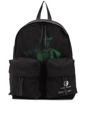 Czarny plecak z nylonu z printem Undercover
