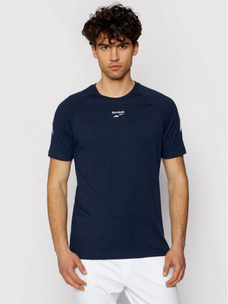 T-shirt - granatowa Reebok Classic