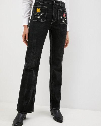 Расклешенные черные широкие джинсы Polo Ralph Lauren