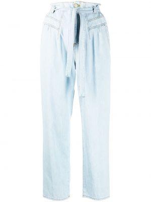 Прямые синие джинсы с высокой посадкой Pinko