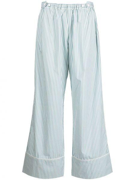Хлопковые синие брюки с поясом Morgan Lane