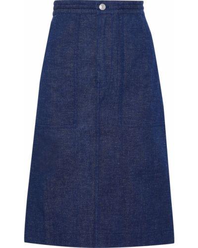 Niebieska spódnica jeansowa z paskiem Acne Studios