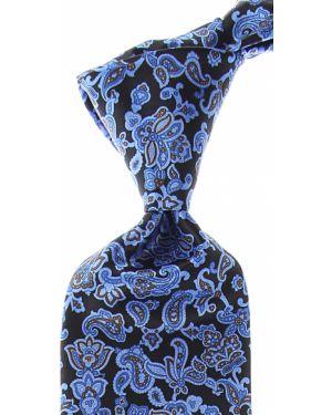 Czarny krawat z jedwabiu Stefano Ricci