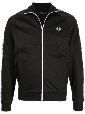 Черная хлопковая куртка Fred Perry