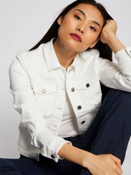 Джинсовая куртка весенняя белая Morgan