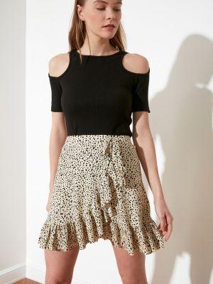 Spódniczka mini z falbanami Trendyol