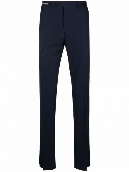 Синие брюки из вискозы Corneliani
