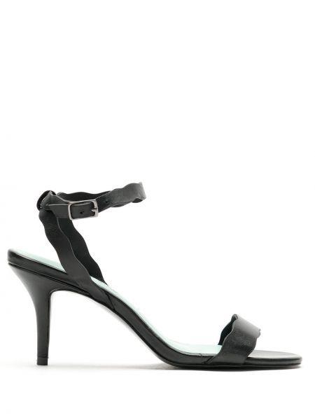 Туфли с открытым носком черные Blue Bird Shoes