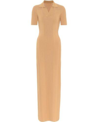 Żółty długo sukienka z wiskozy Jacquemus