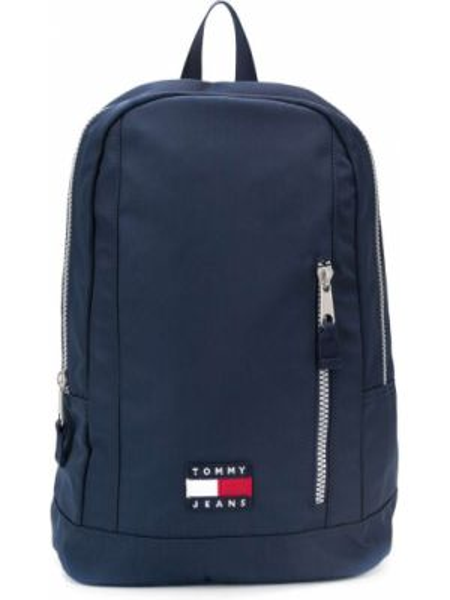 Темно-синий рюкзак для ноутбука на бретелях с карманами с заплатками Tommy Hilfiger