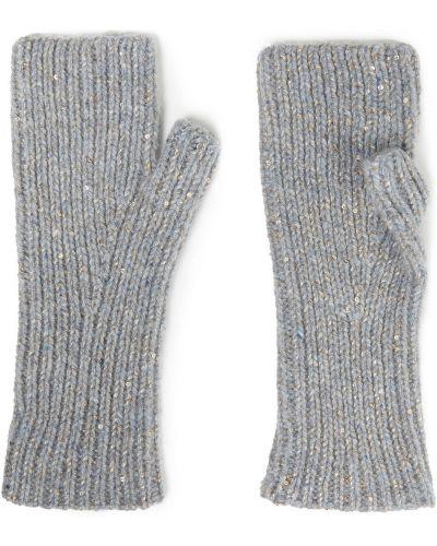 Rękawiczki bez palców wełniane - szare Autumn Cashmere