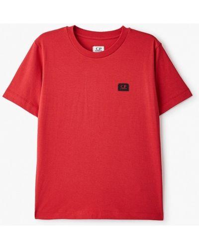 Красная с рукавами футболка C.p. Company