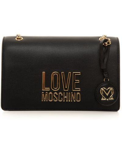 Czarna kopertówka oversize pikowana Love Moschino