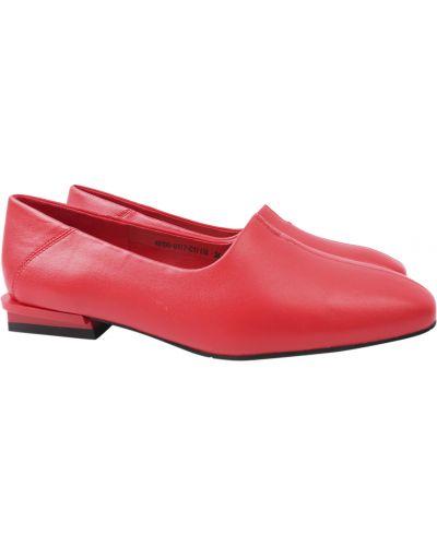 Кожаные туфли - красные Berkonty