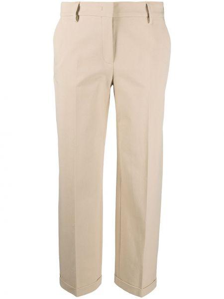 Хлопковые зеленые брюки стрейч Piazza Sempione
