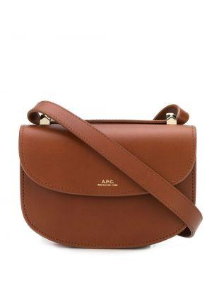 Кожаная коричневая сумка через плечо на молнии A.p.c.