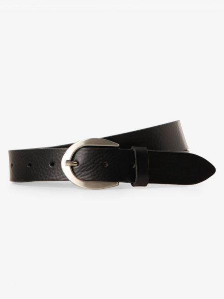 Czarny pasek skórzany elegancki Vanzetti