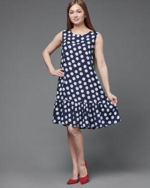 Платье из штапеля синее инсантрик