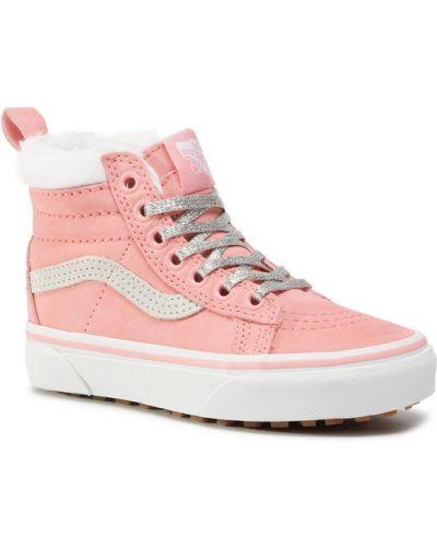 Różowy sneakersy Vans