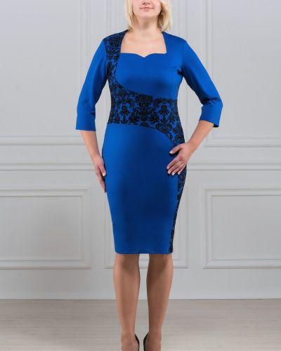 Повседневное с рукавами трикотажное платье Rosa Blanco