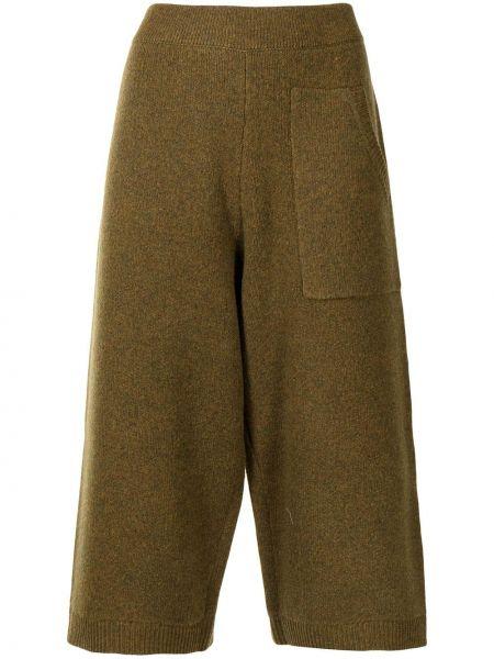 Brązowe spodnie wełniane Tibi