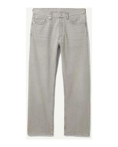 Серые джинсы свободного кроя Weekday
