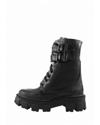 Черные ботинки осенние из натуральной кожи Libero
