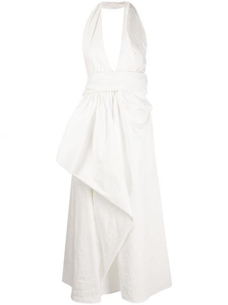 Платье миди с открытой спиной с V-образным вырезом Christian Wijnants