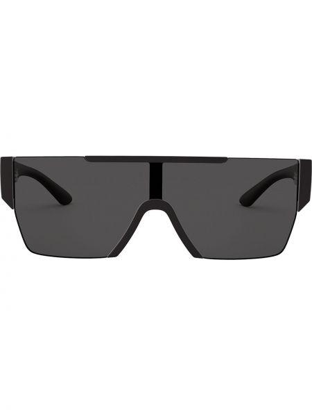 Прямые солнцезащитные очки хаки с завязками Burberry Eyewear