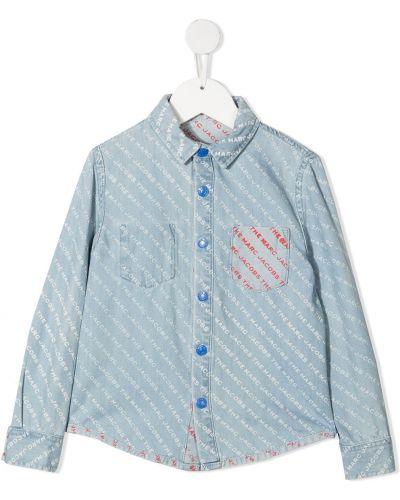 Асимметричная синяя юбка макси на пуговицах The Marc Jacobs Kids
