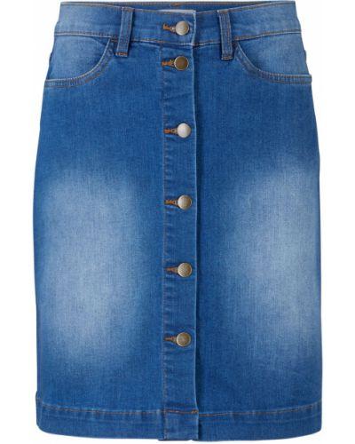 Синяя джинсовая юбка Bonprix