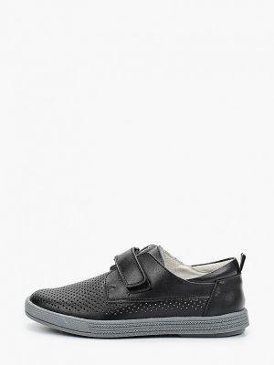Черные кожаные туфли Kenkä