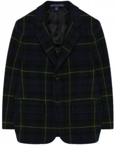 Пиджак шерстяной на пуговицах Polo Ralph Lauren