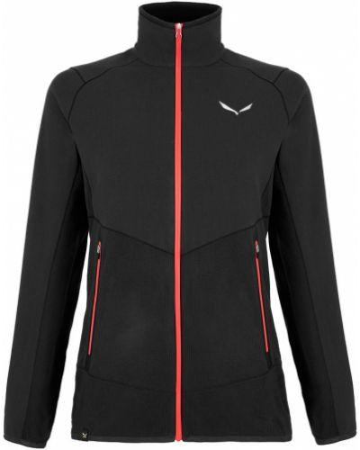 Флисовая куртка - черная Salewa