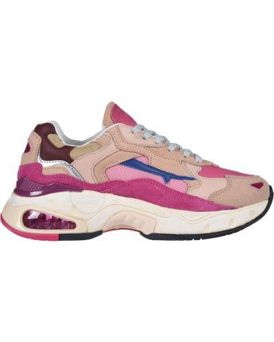 Кроссовки замшевые розовый Premiata