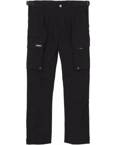 Czarne spodnie bawełniane Burberry