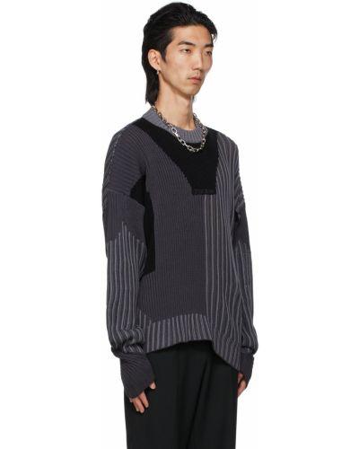 Czarny sweter bawełniany asymetryczny Gmbh