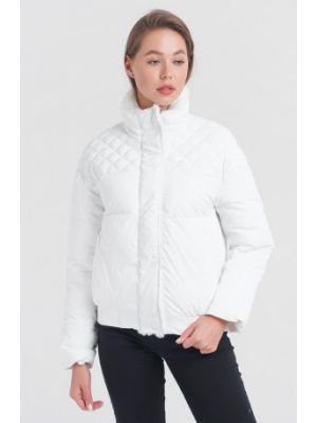 Теплая белая утепленная куртка Fadjo