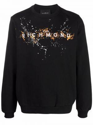 Черная свитер с вышивкой John Richmond