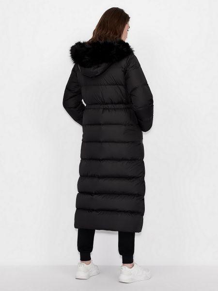 Пуховое пальто - черное Armani Exchange