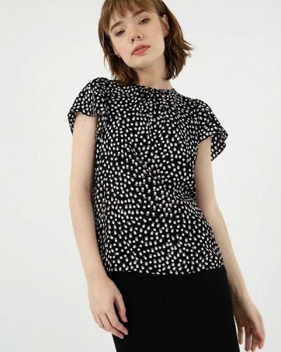 Черная блузка с коротким рукавом Lime