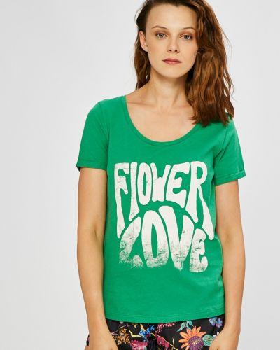 Зеленая футболка прямая Only