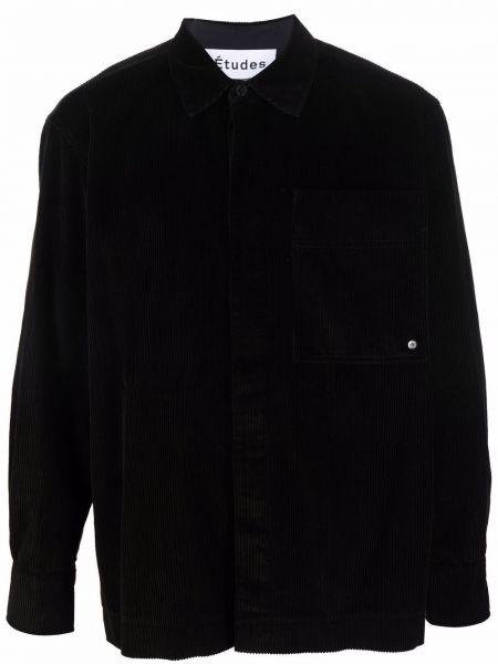 Czarna klasyczna koszula Etudes