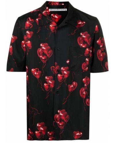 Koszula krótki rękaw - czarna Alexander Wang