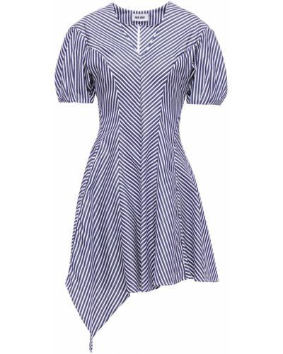 Плиссированное хлопковое платье мини в полоску Each X Other
